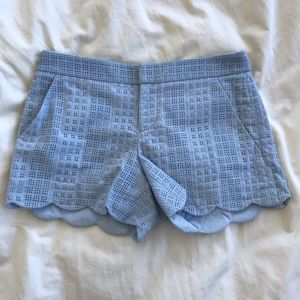 Club Monaco Blue Scalloped Shorts